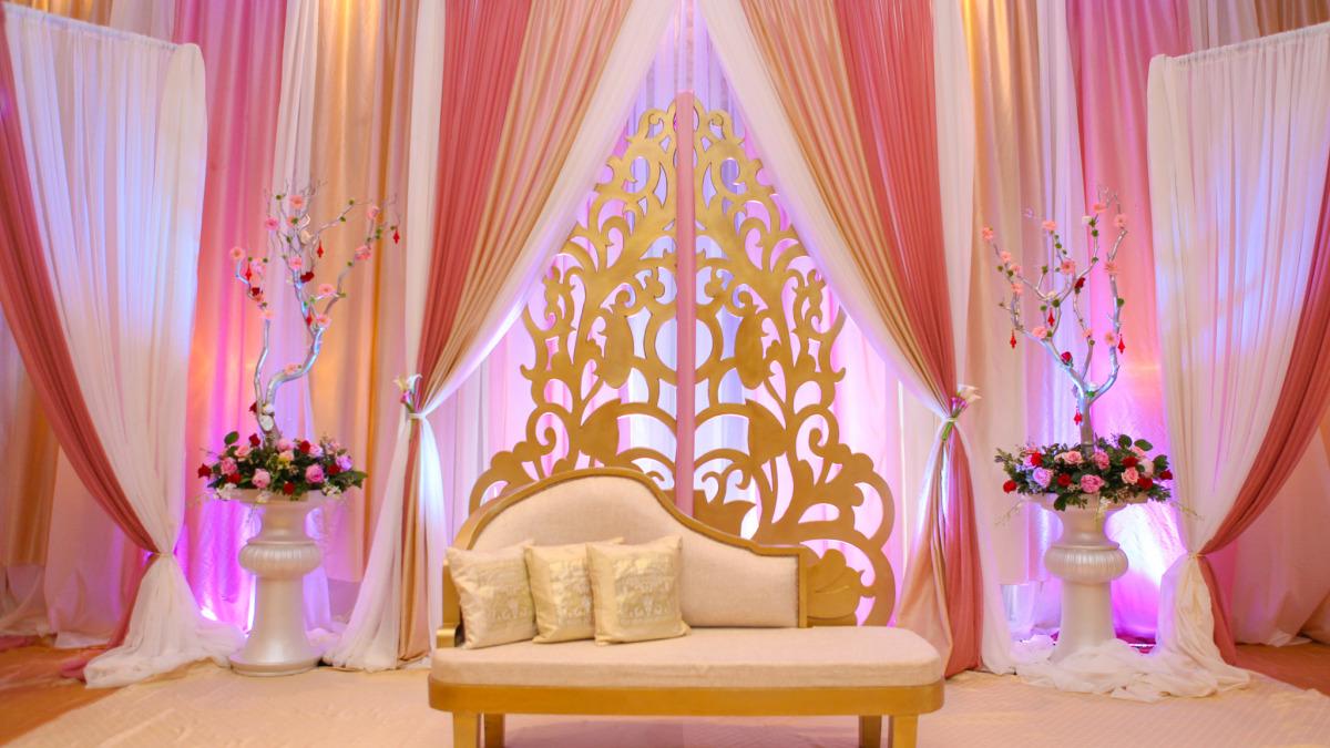 Zainab & Arif - Wedding Reception at Le Jardin - Khazana Creations